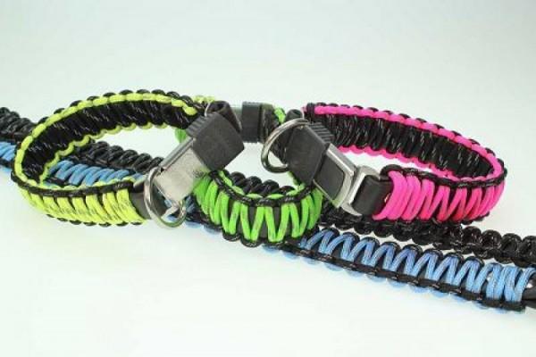 Paracord Hundehalsband mit Klickverschluß 30cm