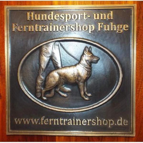 Zwingerschild Deutscher Schäferhund aus Bronzeguss