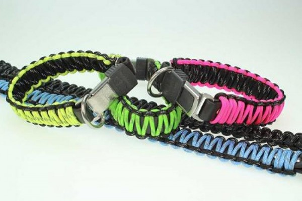 Paracord Hundehalsband mit Klickverschluß 45cm