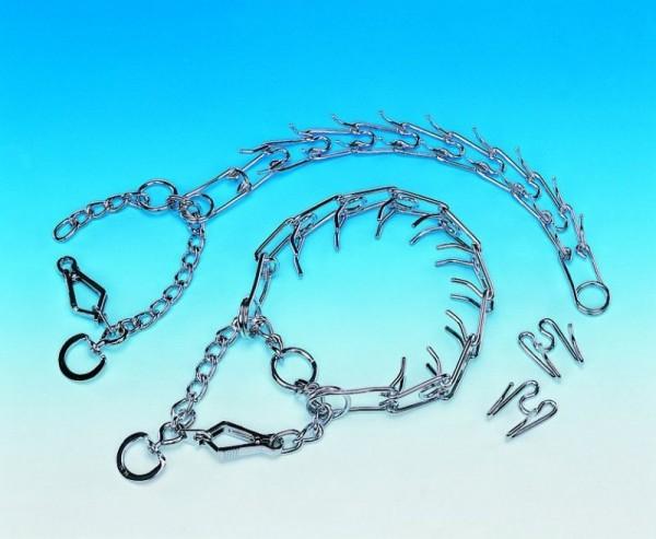 Stachelhalsband mit Verschluß Chrom L 52cm