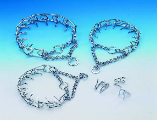 Stachelhalsband Chrom L 64cm